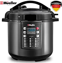 Pressure Cooker Instant Crock 10-in-1 Pot Pro Series 19 Program 6Q with German ThermaV..