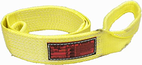 Stren Flex EET2-906CE-18 Type 4 Heavy Duty Nylon Twisted Eye and Eye Web Sling with Wrapped Eyes 2 Ply Yellow 18,000 lbs Vertical Load Capacity 18 Length x 6 Width