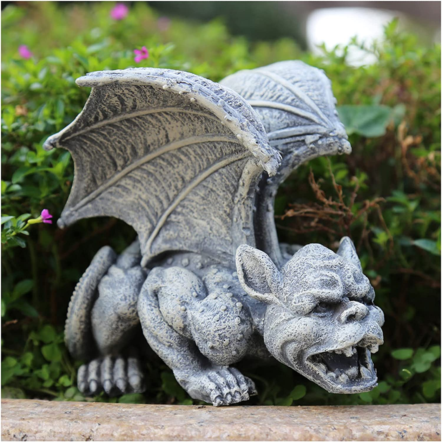 Resin Statue Garden Guardian Medieval Sculptures Austin Mall Complete Free Shipping Gothic Figurine