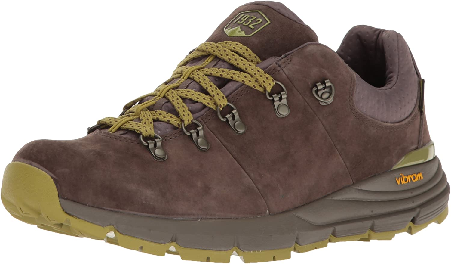 Danner Mens Mountain 600 Low 3  Dark Brown Lichen Hiking shoes