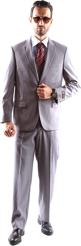 Caravelli Men's Single Breasted 2 Button Dre Fine Fit Super-cheap Slim Extra Nashville-Davidson Mall