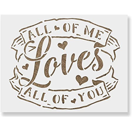 I love us STENCIL Reusable Multiple Sizes Laser Cut International Fast Shipping