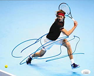 Autographed Alexander Zverev Photo - Sascha 8x10 Germany - JSA Certified - Autographed Tennis Photos