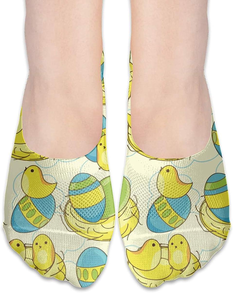 No Show Socks Women Men For Easter Cute Chicks Flats Cotton Ultra Low Cut Liner Socks Non Slip