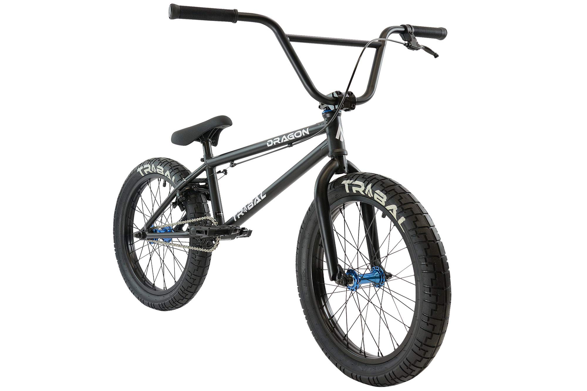 Tribal Dragon Bicicleta BMX – Piezas negro mate/azul: Amazon.es: Deportes y aire libre