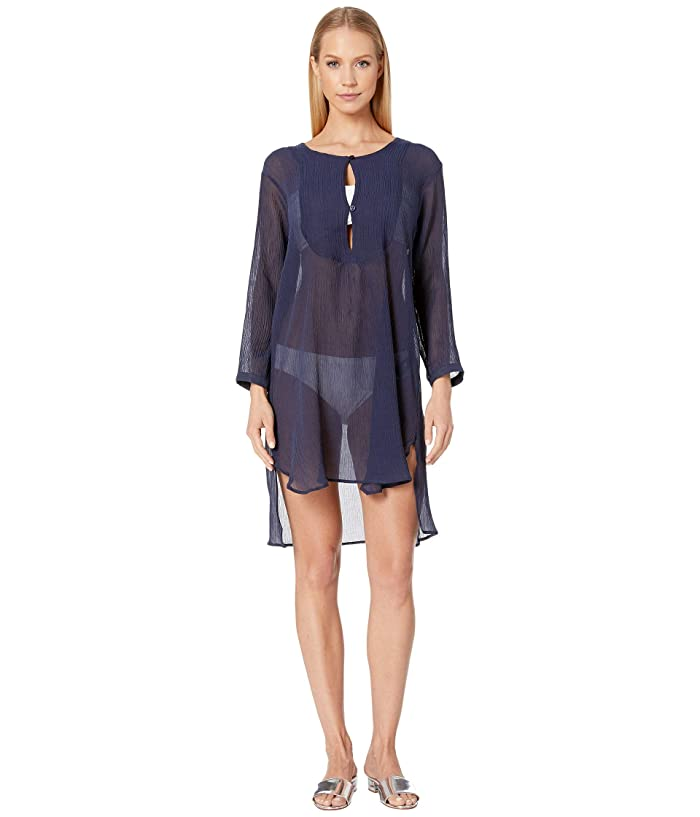 Vilebrequin Fitonia Crepe Cover-Up Dress (Navy) Women