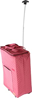 dbest products Smart Cart Shopper Tote Travelux Series, Saffron Premium Quilted Cart Weekender Bag Carry-on