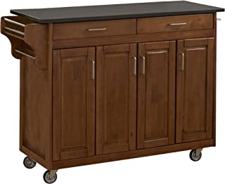 Create-a-Cart Cottage Oak 4 Door Cabinet Kitchen Cart with Black Granite Top by Home Styles