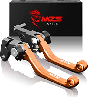 MZS Pivot Levers Brake Clutch CNC Orange compatible KTM 125 EXC (SIX DAYS) 2009-2013/125 144 SX 2009-2013/150 SX XC 2009-2013/200 XC-W EXC 2009-2013/450 SX SX-F SX-R 2009-2012