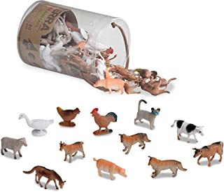 Terra by Battat – Farm Animals – Assorted Miniature Farm Animal Toy Figures & Cake Toppers For Kids 3+ (60 Pc)
