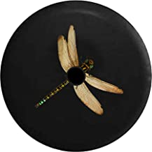 JL Spare Tire Cover Realistic Dragonfly with Backup Camera Hole Black 32 in