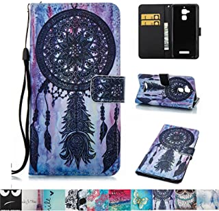 Asus ZenFone 3 Max ZC520TL Case, Firefish PU Leather Wallet Case [Card Slots] [Kickstand] with Strap Magnetic Clip Impact Resistant Protect Case for Asus ZenFone 3 Max ZC520TL -Blacknet