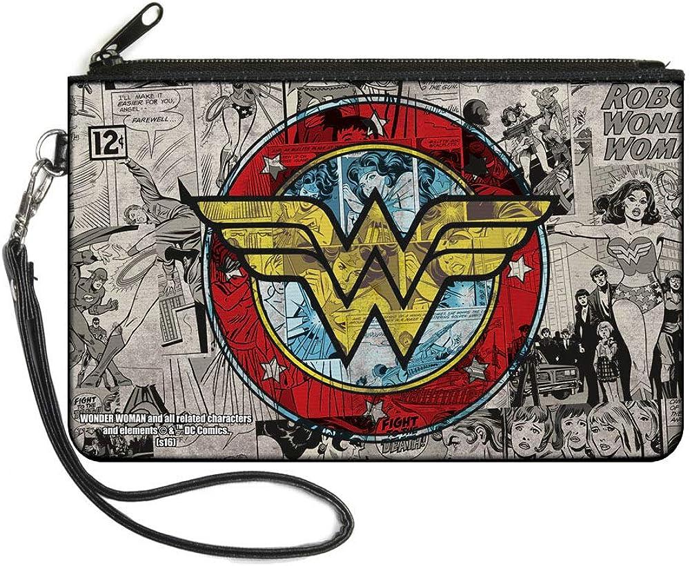 Buckle-Down Buckle-Down Zip Wallet Wonder Woman Large Accessory, Wonder Woman, 8