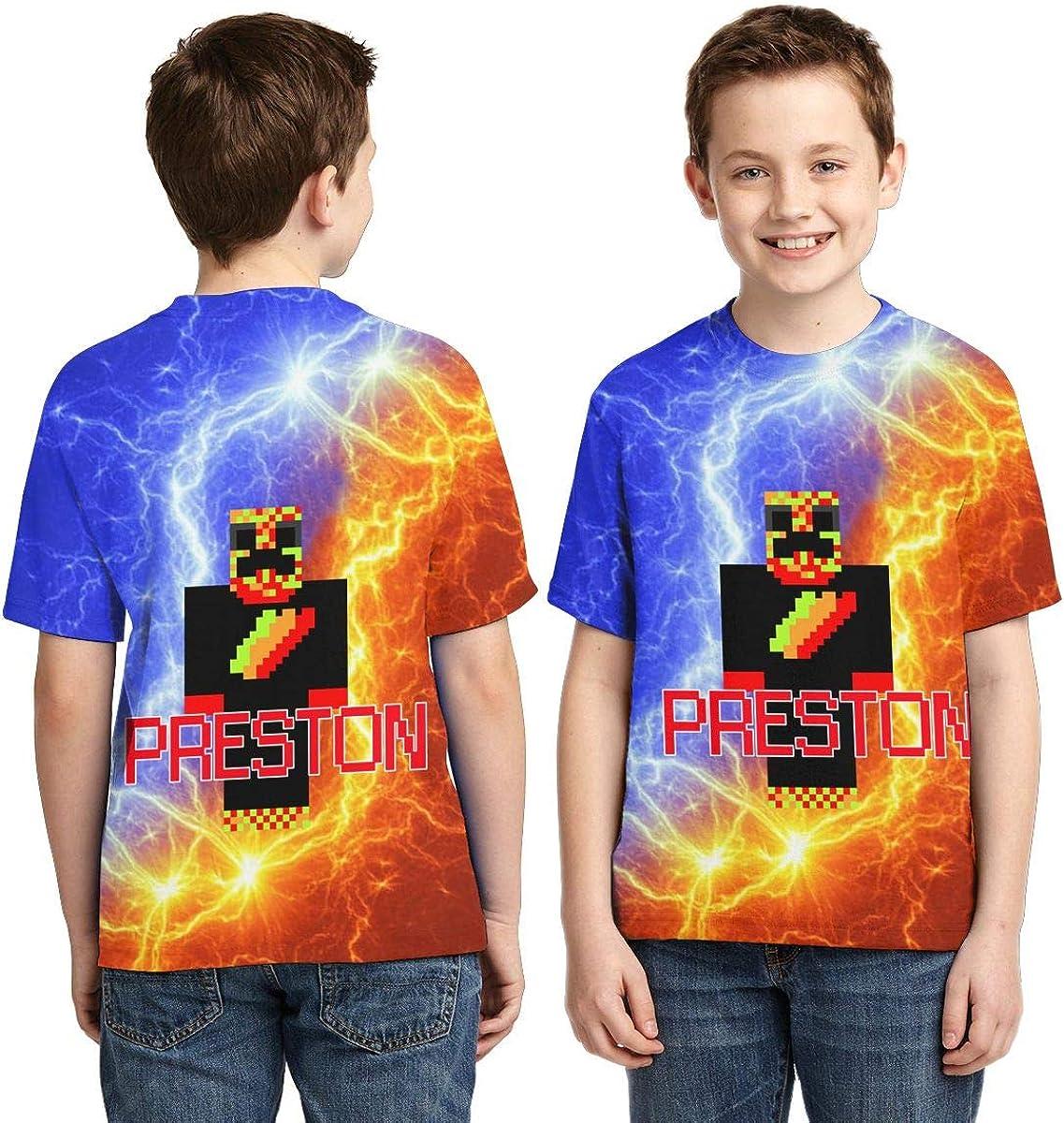 POLK HZT Preston Playz Shirt Boys Girl Novelty Gift 3D Print Short Sleeve T-Shirt