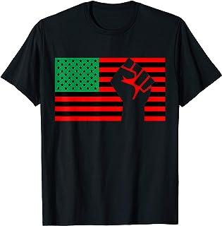 Black Lives Matter Pan African American UNIA Flag Juneteenth T-Shirt