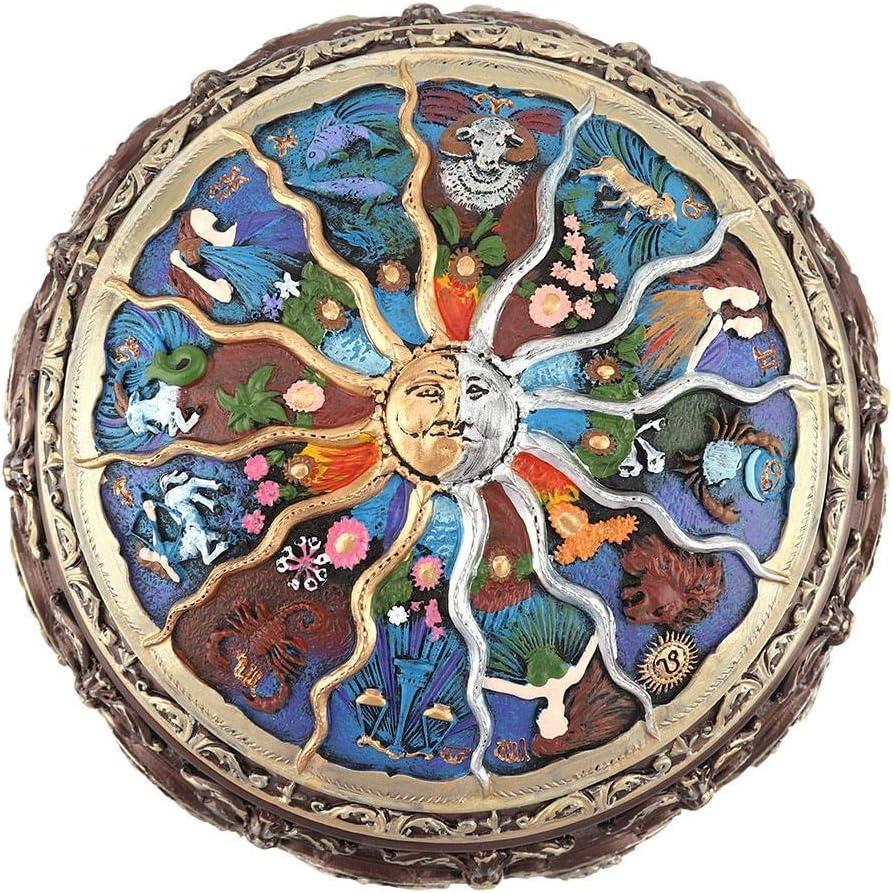 Aries Adultos como Regalo, 12 Constelaciones Diosa giratoria Caja de m/úsica Vintage Luces LED Coloridas Caja de m/úsica Castillo en el Cielo para ni/ños Caja Musical
