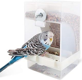 Comedero transparente para pájaros, comedero automático para pájaros, estación de alimentación para pájaros, se puede colg...