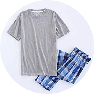 ALWAYS ME Sale Plus Size 100% Cotton Pyjamas Men Pijamas Short-Sleeve Casual Sleepwear Men Homewear