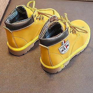 Winter New Children Plus Cotton Warm Martin Boots Front with Children's Shoes