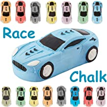 15 Jumbo Race Car Sidewalk Chalk ~ Party Favors Goody Bag Pack ~ Birthdays, Easter, Christmas & More ~ Individually Wrappe...
