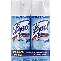 2 Pack Lysol Disinfectant Spray (Crisp Linen) 25oz (2X12.5oz)