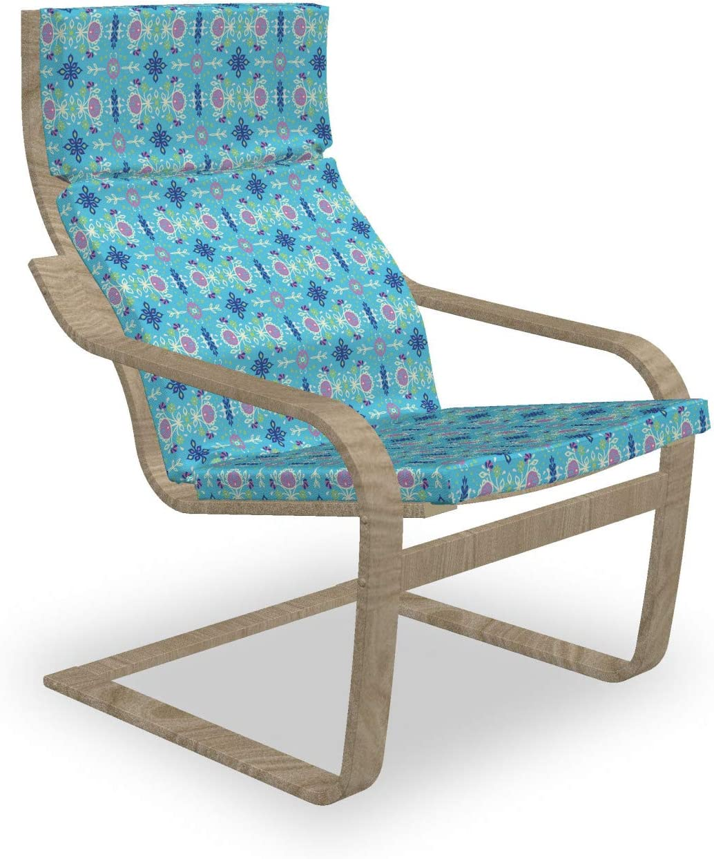 Ambesonne Store Oakland Mall Bohemian Armchair Pad and Mosaic Folk Motif Slipcover