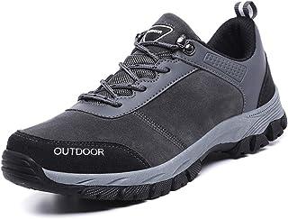 Heren Wandelschoenen Non-Slip Ademende Slijtvast Comfortabele Low Top Sneakers Voor Outdoor Trailing Trekking Walking,Gray,49