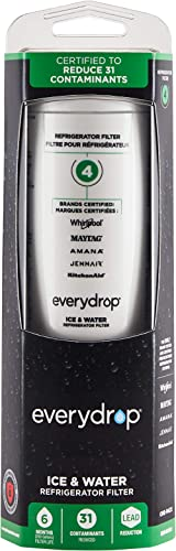 EveryDrop by Whirlpool Refrigerator Water Filter 4, EDR4RXD1 (Pack of 1)