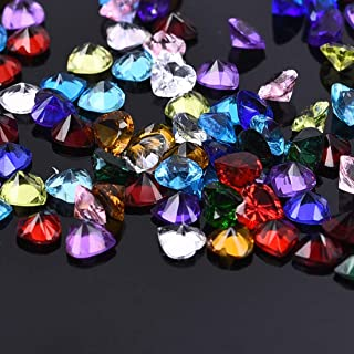 Wholesale Birthstones Charms for DIY Locket Necklace Jewelry Making Heart Shaped,100Pcs