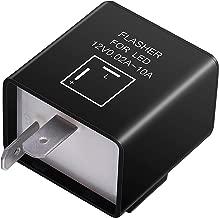 Kinstecks 2Pin Flasher Relay 12V Motorcycle Indicators LED Light Flasher for Motorcycle LED Indicators Turn Signal Light