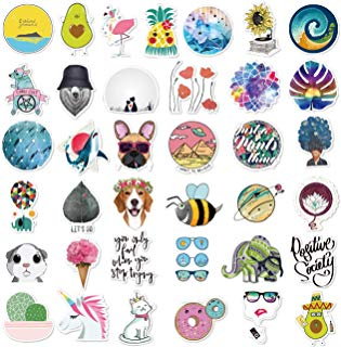 Cute Stickers(105Pcs),Laptop and Water Bottle Decal Aesthetic Sticker Pack for Teens, Girls, Women Vinyl Stickers Waterproof