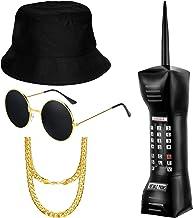 meekoo 80s / 90s پسران هیپ هاپ لباس لباس 90s لباس رپ لوازم جانبی لباس ، تورم تلفن همراه کلاه عینک آفتابی عینک آفتابی زنجیره ای طلایی