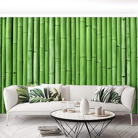 Indian Royals Green Bamboo Peel and Stick Self Adhesive Wallpaper (200 * 45 cm)