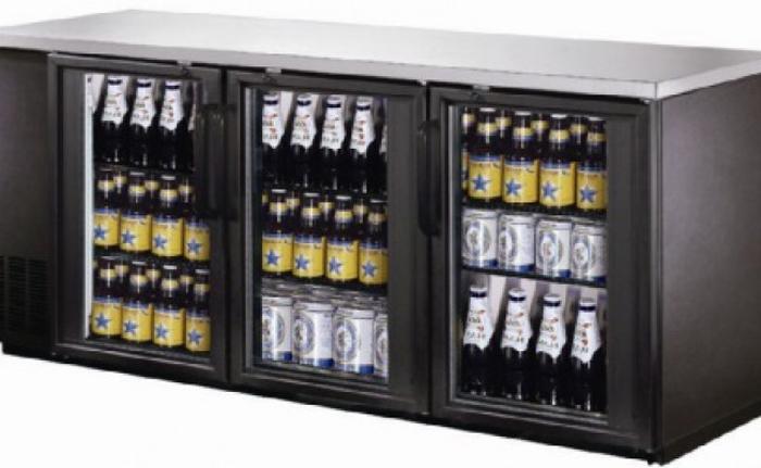 Beer Back Bar Cooler 3 Glass Door 72' Beer Fridge NSF Certified Beverage Refrigerator 19.6 cu.ft Under Counter Height 35°-46°F Black bb3dup