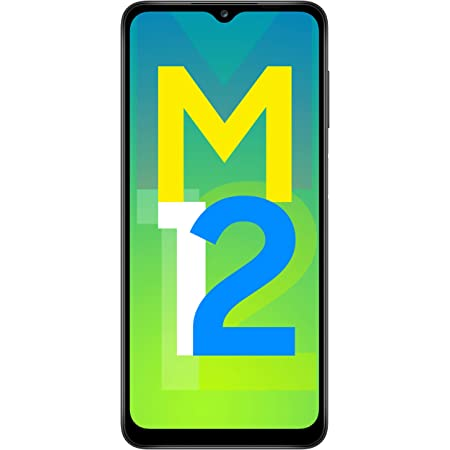 Samsung Galaxy M12 (Black,6GB RAM, 128GB Storage) 6 Months Free Screen Replacement for Prime