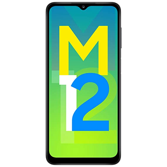 Samsung Galaxy M12 (Black,4GB RAM, 64GB Storage) 6000 mAh with 8nm Processor   True 48 MP Quad Camera   90Hz Refresh Rate