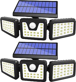 Solar Lights Outdoor Motion Sensor, 3 Adjustable Heads Solar Motion Sensor Light Outdoor, Security Lights 270° Wide Angle ...