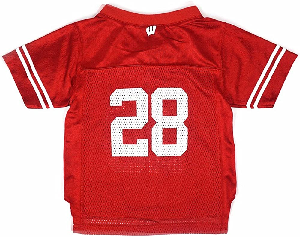 Amazon.com : adidas Wisconsin Badgers NCAA Red Official Home #28 ...