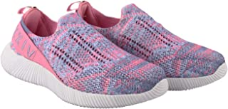 KazarMax XXIV Women's & Girl's Latest Collection, Comfortable & Fashionable Pink-Purple Slipon's Socks SneakersTrainers [WSS001] (Made in India)