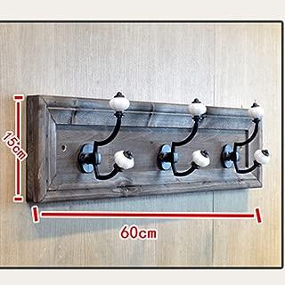YongFeng Hook - Link to Solid Wood Hanger Display Stand Bathroom Bathroom Wall Hanging Cloak Hook Bathroom Accessories Hook (Size 15X60CM) Decorative Wall Mounted Coat Hooks (Color : B)