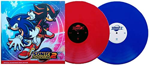 Sonic Adventure 2 (Official Soundtrack Vinyl Edition) - Exclusive Limited Edition Blue & Red 180 Gram Colored 2x Vinyl LP [Condition-VG+NM]