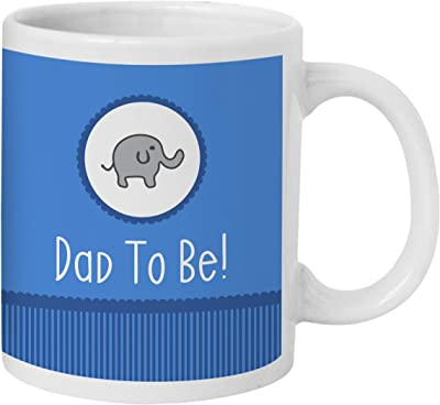 TIED RIBBONS to Be Dad Gift for Baby Shower Husband Friend Printed Coffee Mug (325 ml)