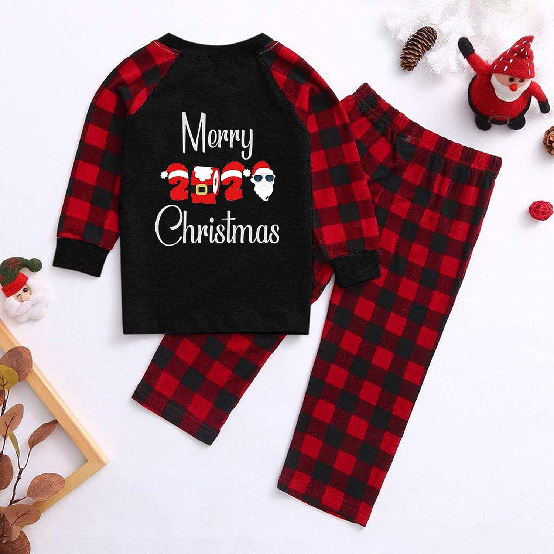 cover Pyjamas Familie Weihnachten Schlafanzug Set Schlafanz/üge Mit 2020 Andenken Muster Nachtw/äsche Hausanzug f/ür die ganze Familien