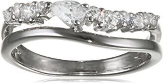 Esprit Essential ESRG92847A1 - Anello da donna in argento 925 rodiato con zirconi trasparenti