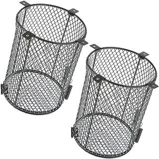 フレーム2ピース爬虫類ペット電球ステンレス鋼ランプシェードネットカバー15×15×17センチ