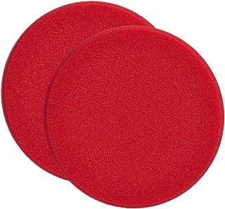 SONAX 2X 04931000 PolierSchwamm rot 160 (hart) SchleifPad 1 Stück
