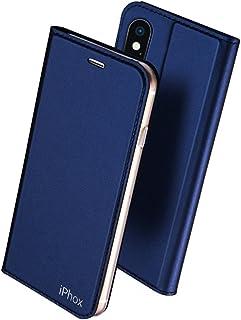 16e500355f1 IPHOX Funda iPhone X/XS [Soporte Plegable] [Ranuras para Tarjetas] [