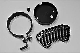 JBSporty Harley Sportster Iron 48 Roadster 72 Speedometer Relocation Kit w/Handlebar Clamp for indicator lights/Bobber Ribbed Retro Style!