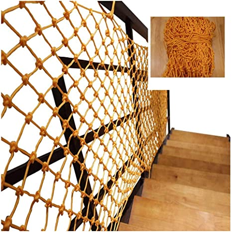 Color : Red, Size : 6mm//8CM TorchJPA Nylon Rope Net Safe Net Strong Material Protective Net Balcony Stairs Fall Prevention Net Color Decorative Net Fence