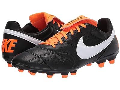 Nike Premier II FG (Black/White/Total Orange) Soccer Shoes